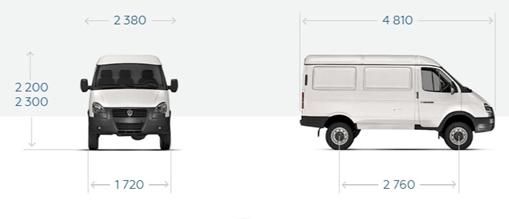 """GAZ-27527 Ganzmetallwagen """"Sable 4x4"""", 3 Sitze."""