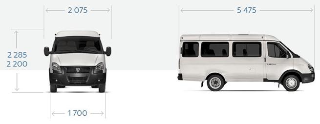 """GAZ-32217 """"GAZel Business 4x4"""" Minibus 8 + 1 Sitze. Cat. B"""