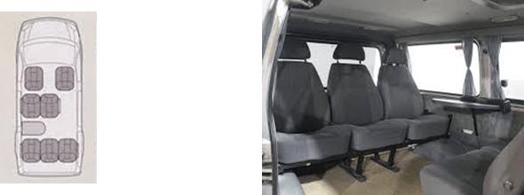 """GAZ-22177 Kleinbus """"Sable 4x4"""" mit niedrigem Dach, 6 + 1 Sitze."""