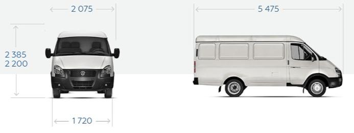 """GAZ-27057 Ganzmetallwagen """"GAZel Business 4x4"""" mit 3 Sitzen."""